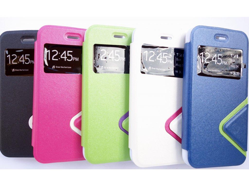Pouzdro Fashion pro iPhone 5/5S (Barva Zelený s fialovým)