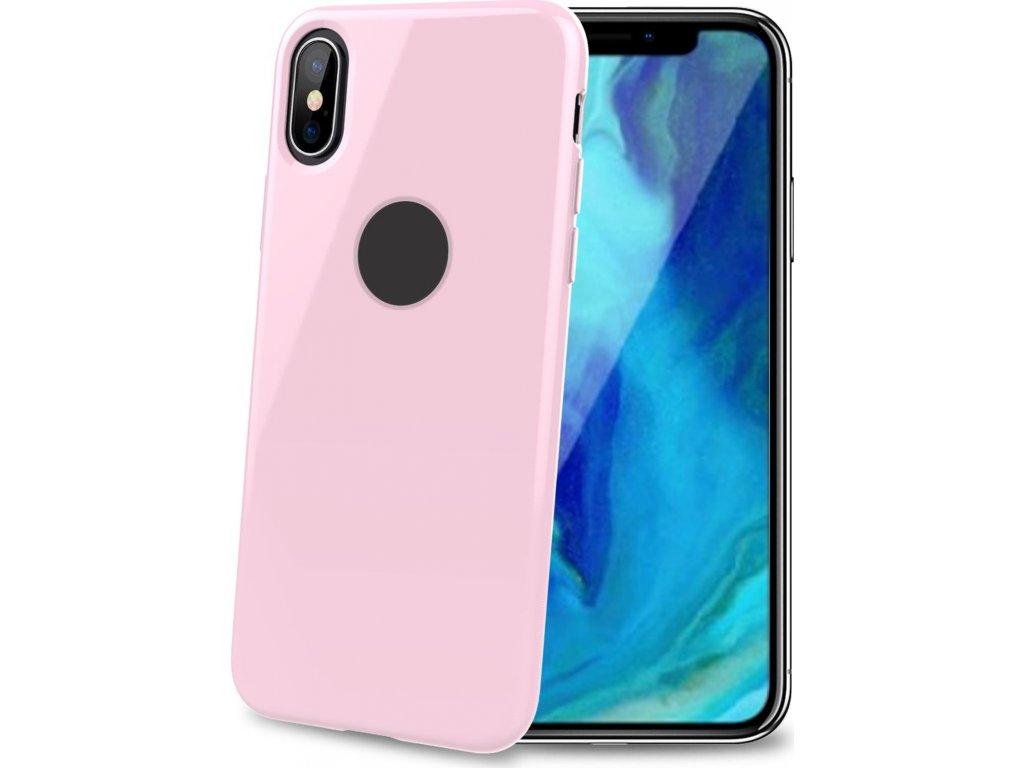 TPU pouzdro CELLY Gelskin pro Apple iPhone XS Max, růžové