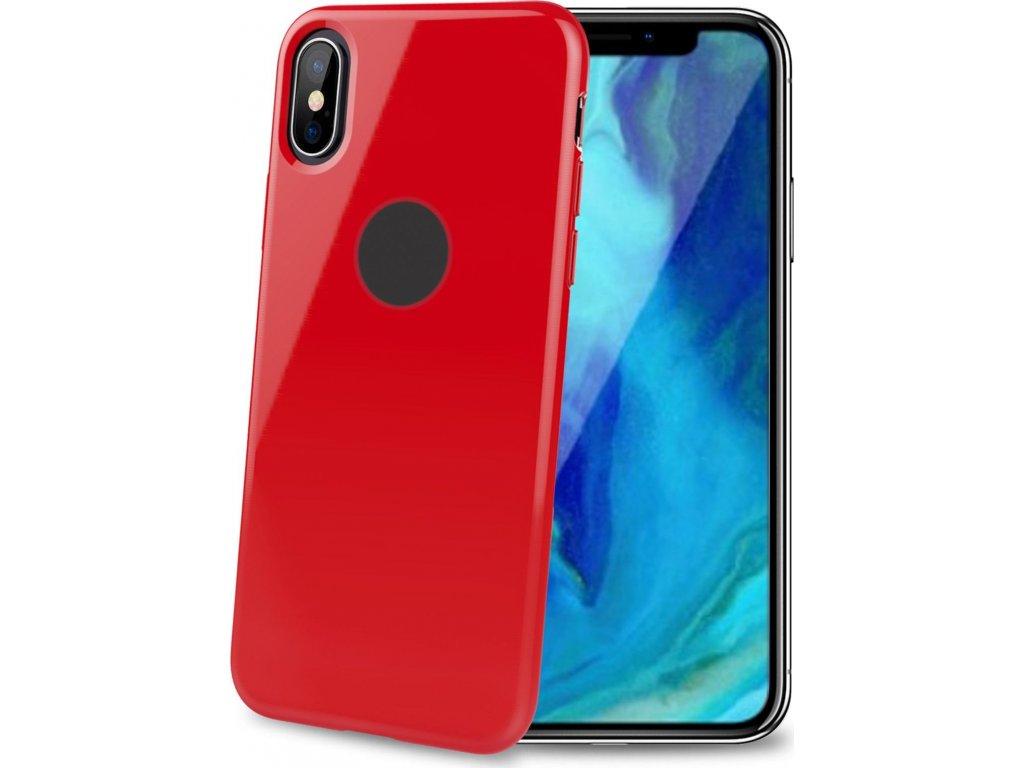 TPU pouzdro CELLY Gelskin pro Apple iPhone XS Max, červené