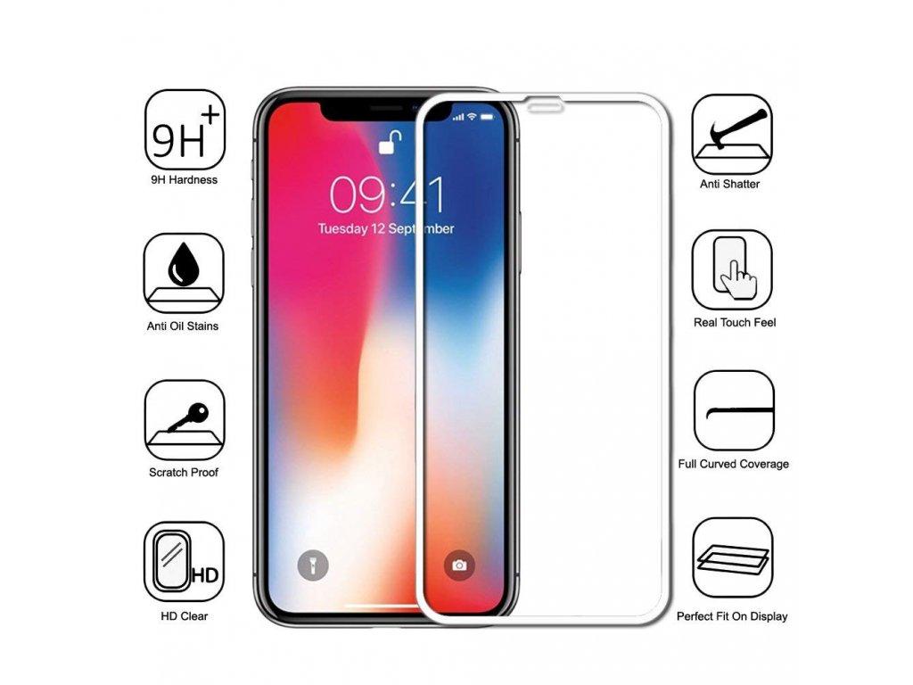 4D sklo iphone XS bile