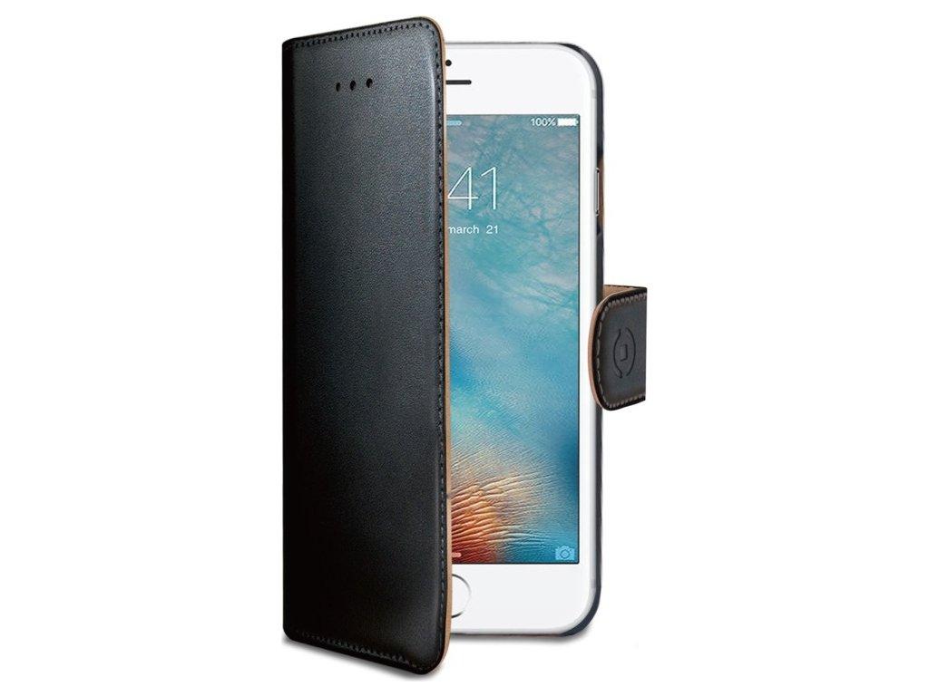 Pouzdro typu kniha CELLY Wally pro Apple iPhone 7 Plus/8 Plus, PU kůže, černé