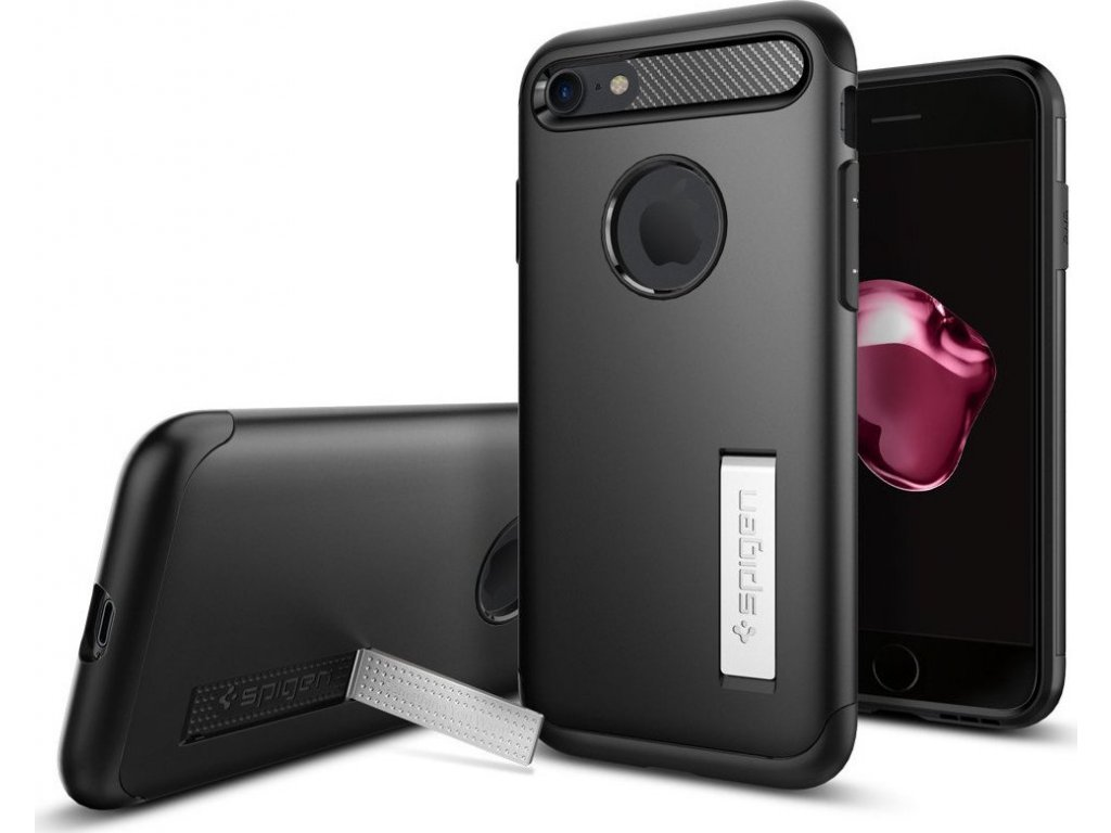 Spigen Slim Armor, black - iPhone 8/7