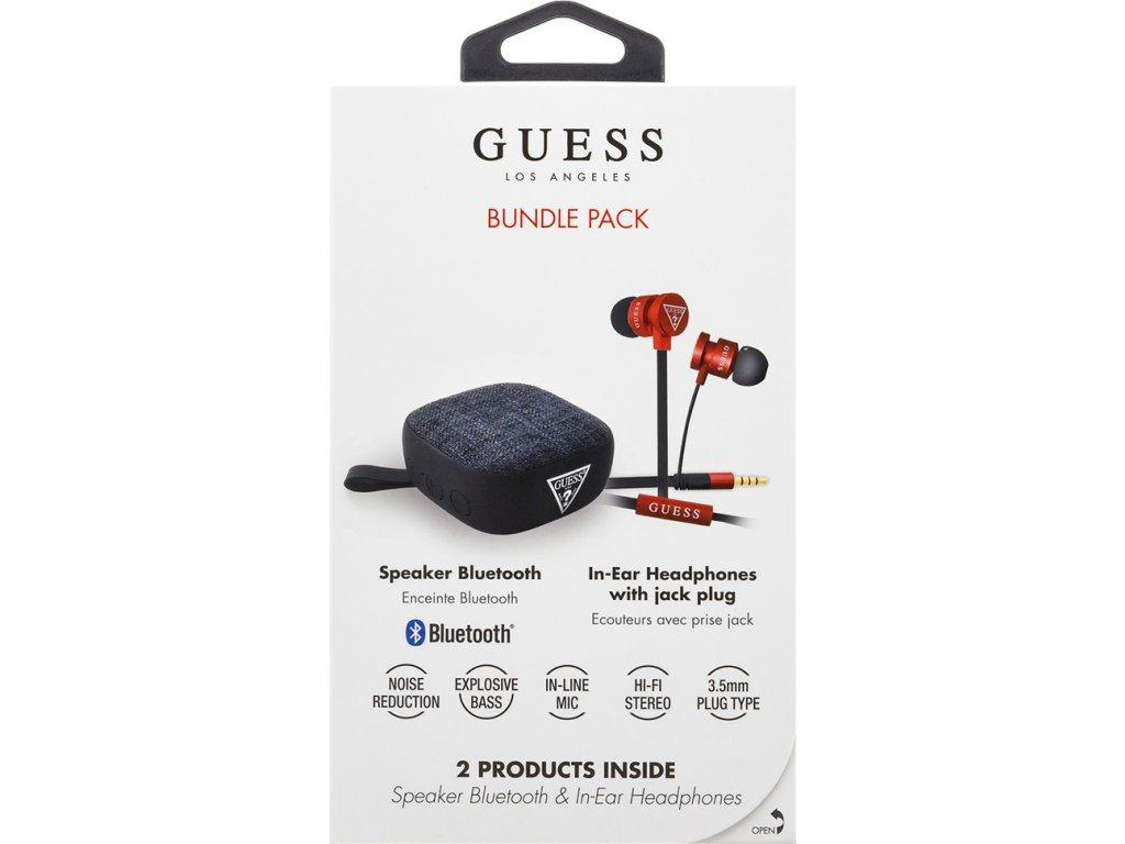 GUBPERSPRE Guess Bundle In-Ear Headphones + Bluetooth Speaker Red (EU Blister)