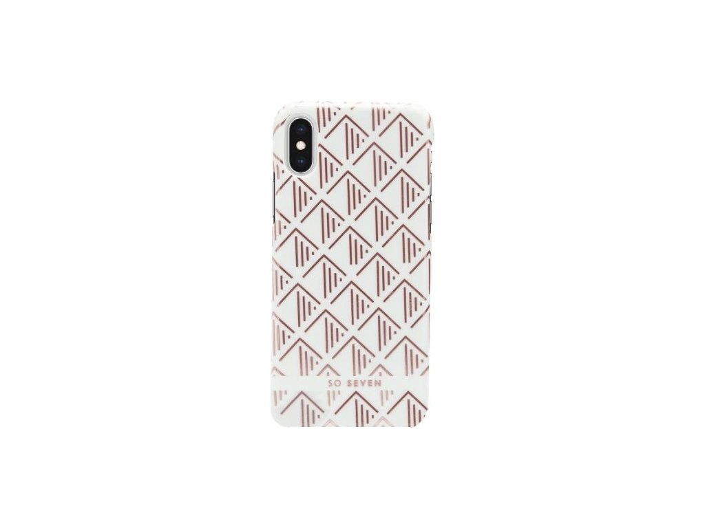 SoSeven Fashion Paris White/Rose Gold Triangle Cover pro iPhone X/XS