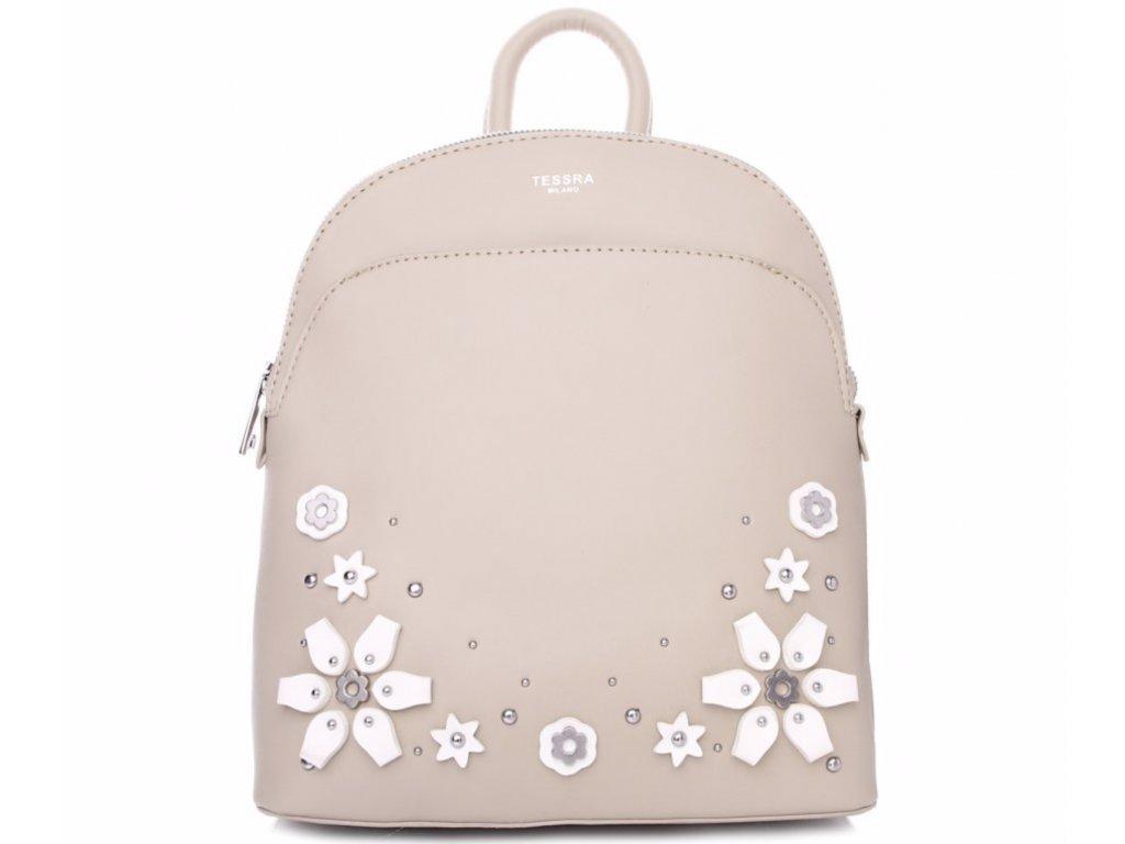 Tessra dámský batoh 4172 TS, tmavě béžový