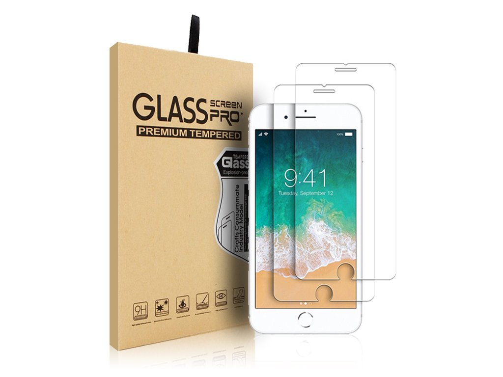 2 Pack Tempered Glass for iPhone 7
