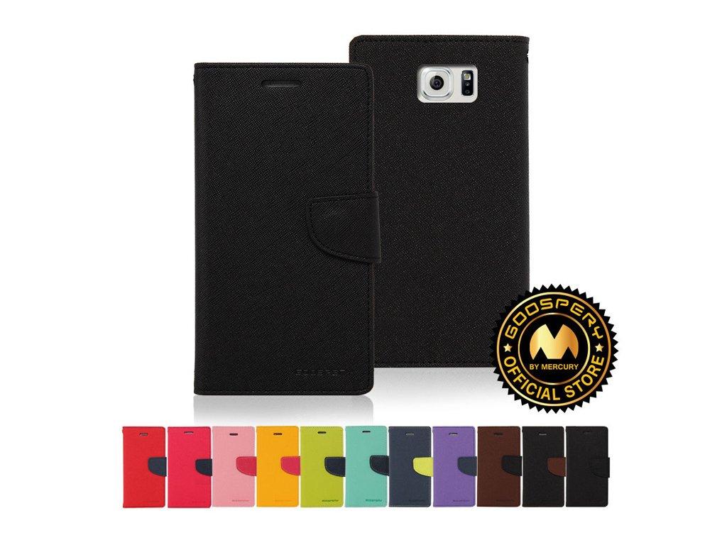 Pouzdro GOOSPERY pro Samsung Galaxy S6 EDGE Plus (Barva Růžovo/červené)