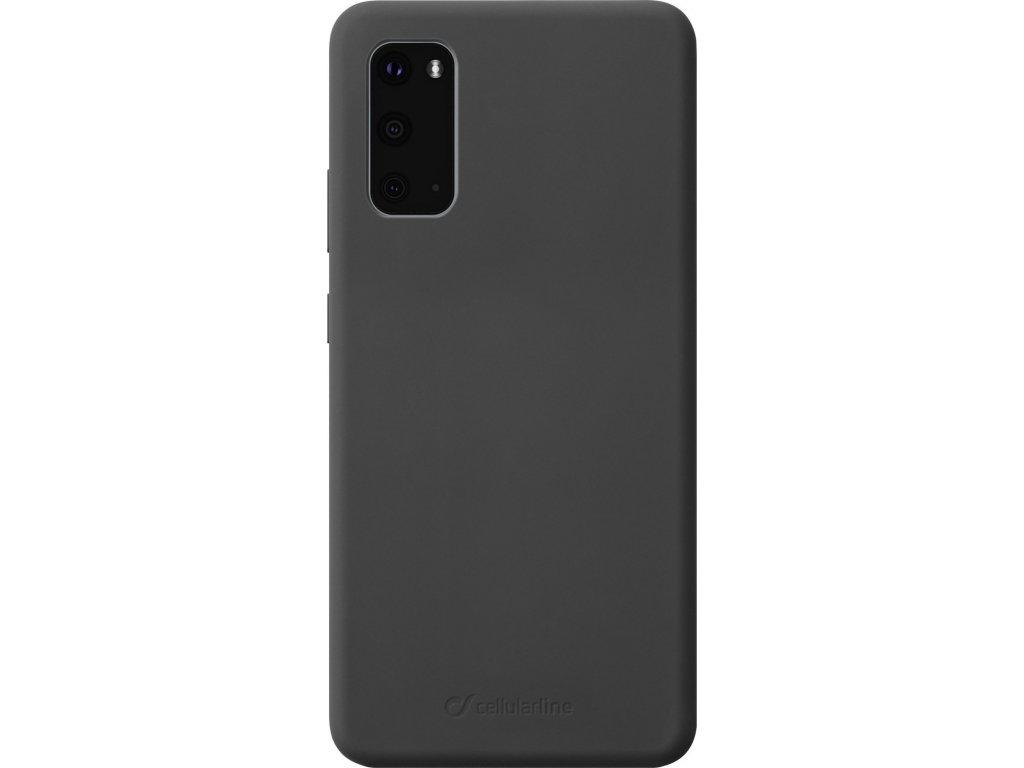 Ochranný silikonový kryt Cellularline Sensation pro Samsung Galaxy S20, černý