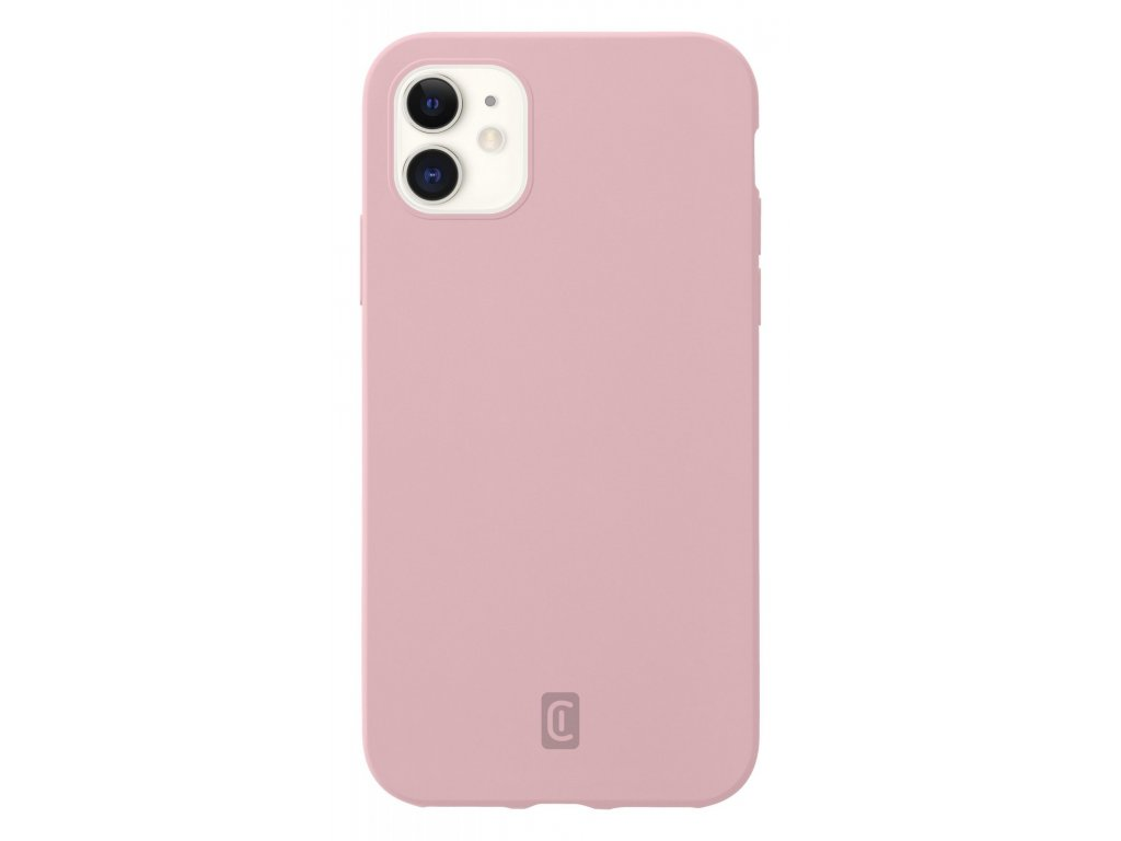 Ochranný silikonový kryt Cellularline Sensation pro Apple iPhone 12 mini, starorůžový