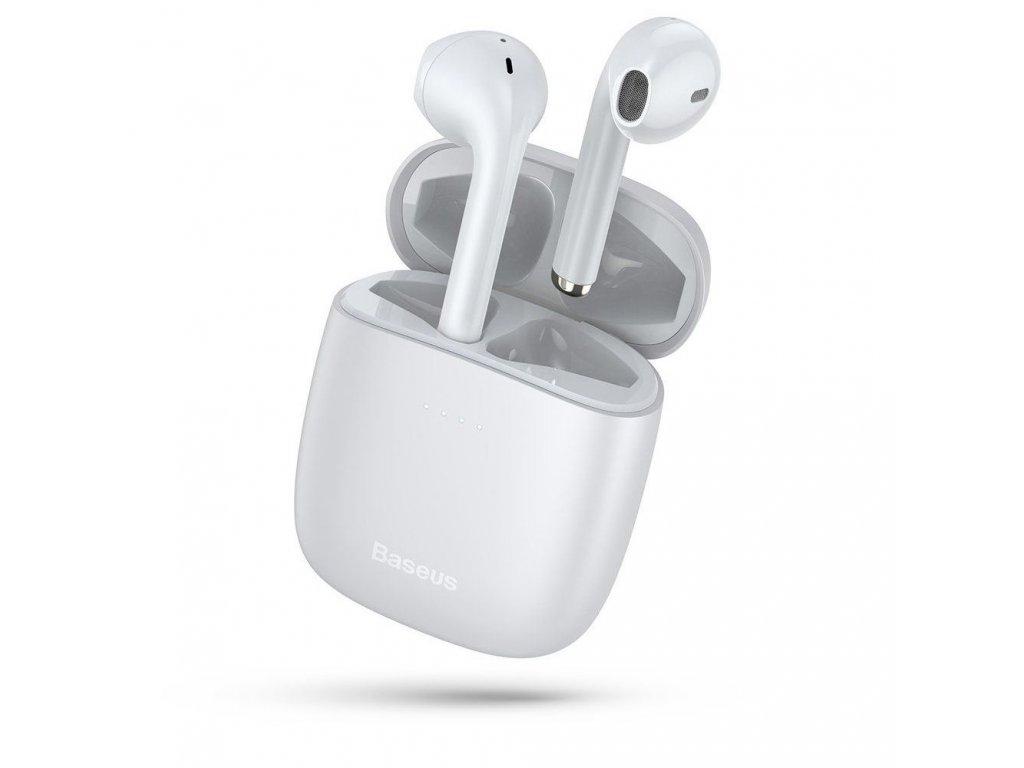 Baseus W04 TWS bezdrátová sluchátka s dobíjecím pouzdrem, bílá