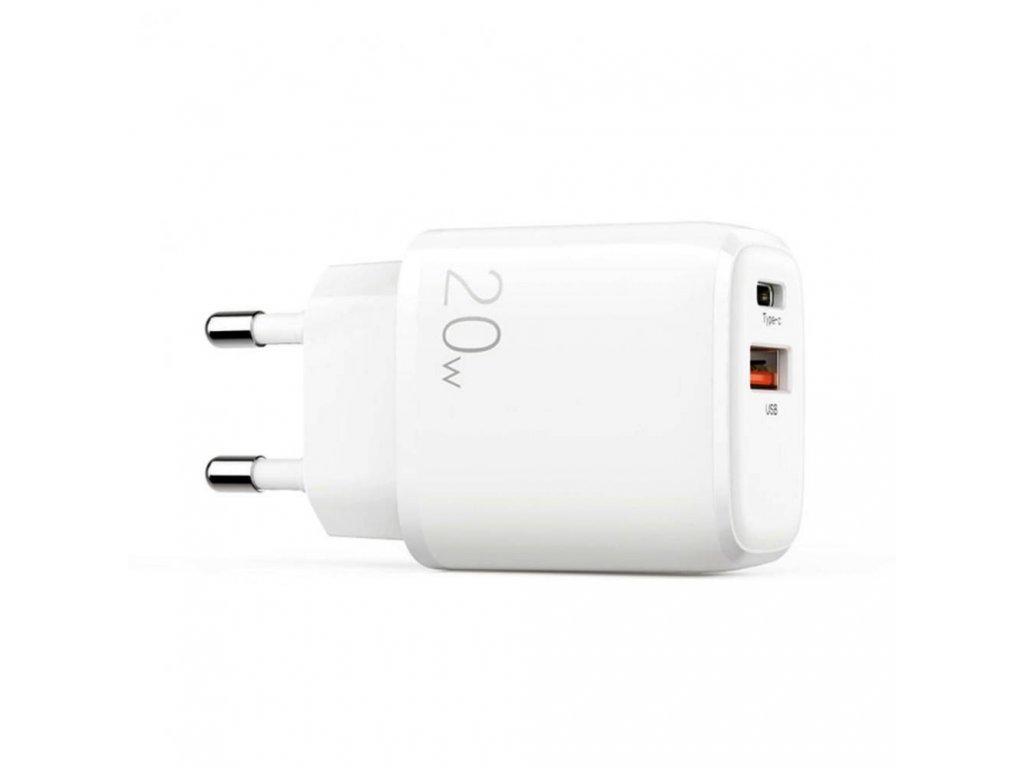 Rychlonabíječka Joyroom LG3028E3 PD20W/QC3.0 USB + USB-C pro iPhone, Samsung a další, White