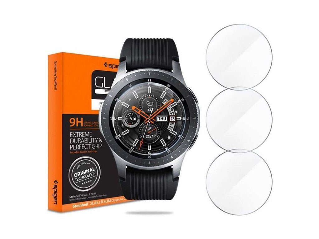 Spigen Glas.tR SLIM 3 Pack - Galaxy Watch 46mm