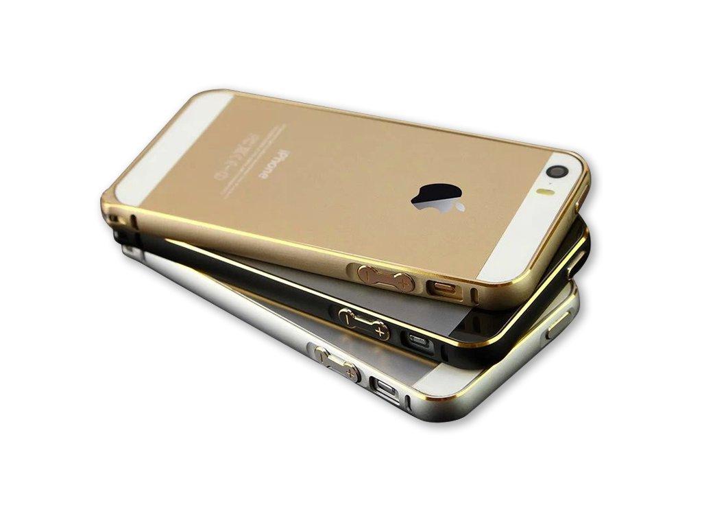 139fea789 Luxusní kryt pro iPhone 5/5S/SE - Steel Shield (Barva Stříbrno/