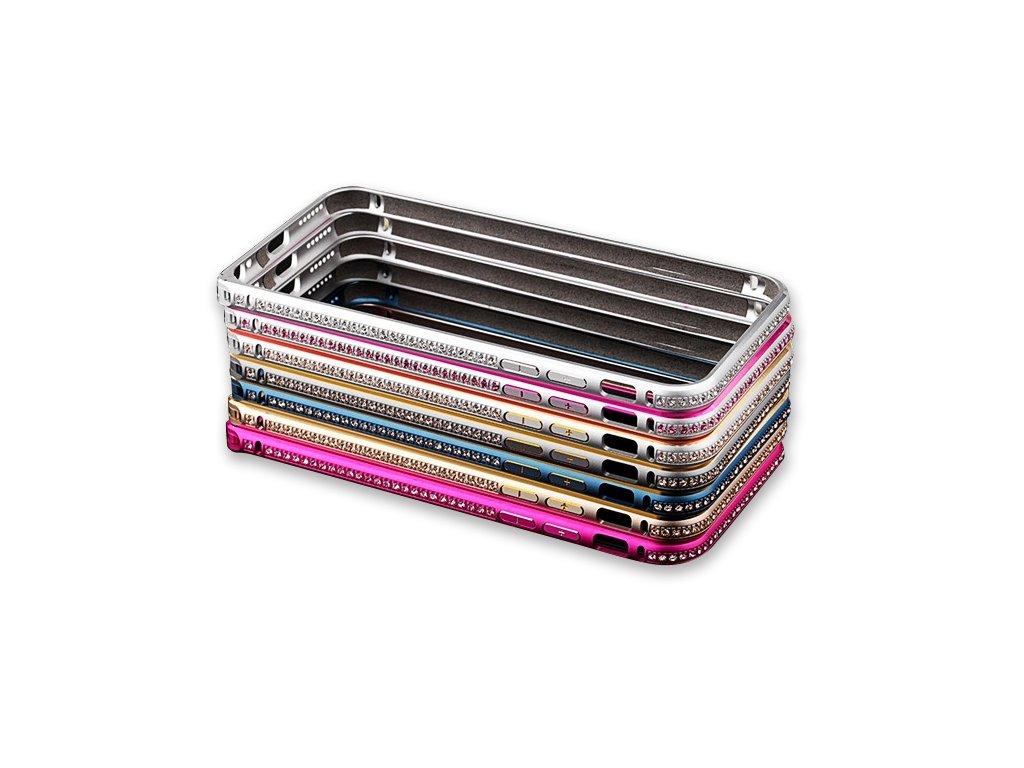 Luxusní kryt pro iPhone 5/5S/SE - Crystal Steel Shield (Barva Stříbrno/zlatý)