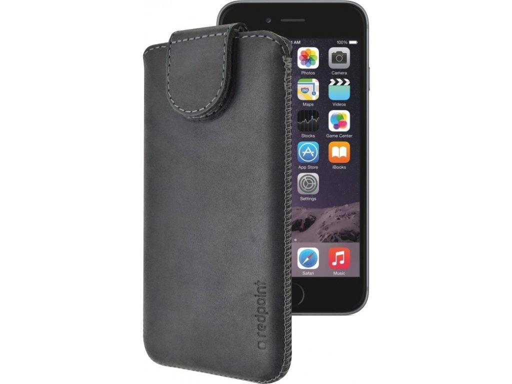 Kožené pouzdro FIXED Posh pro Apple iPhone 6/6S a 7/7S, černé