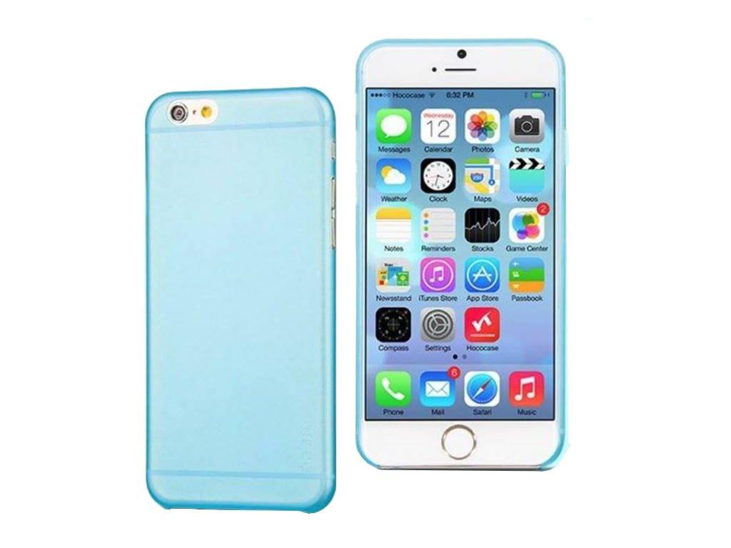 781 1 kryt hoco tpu frosted ultra tenky pro apple iphone 6 6s svetle modry