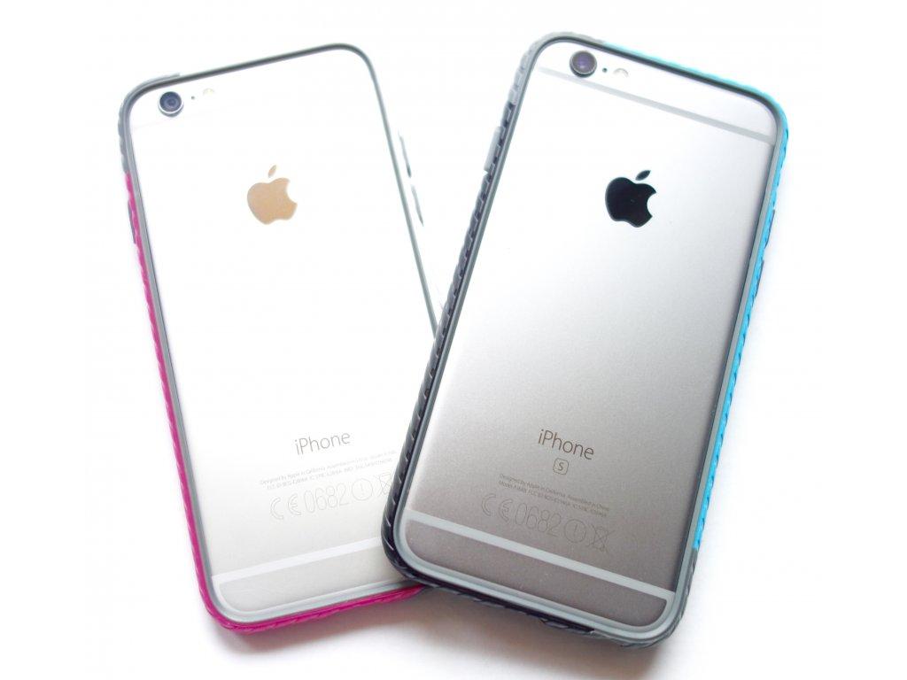 Jelly Shield Bumper Colors pro iPhone 6 / 6S (2 varianty) (Barva Růžový)