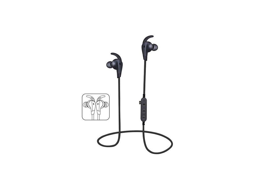 Bezdrátová headset sluchátka Clearo MS-T6, černá
