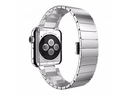 Clearo Butterfly kovový řemínek / pásek pro Apple Watch 42mm – Stříbrný 2
