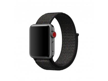 Clearo Sport nylonový řemínek : pásek pro Apple Watch 42mm – černý