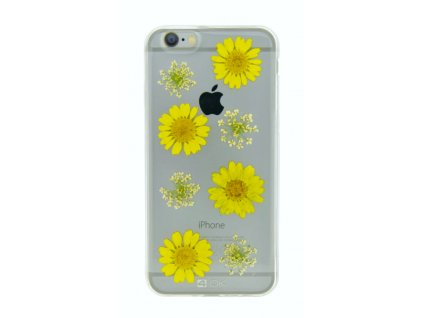 1063 kryt pouzdro 4 ok flower cover yellow daisy pro apple iphone 6 6s