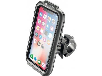 Voděodolné pouzdro Interphone pro Apple iPhone X/XS, úchyt na řídítka, černé