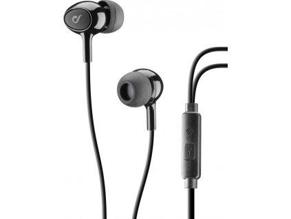 In-ear sluchátka CELLULARLINE ACOUSTIC s mikrofonem, AQL® certifikace, 3,5 mm jack, černé