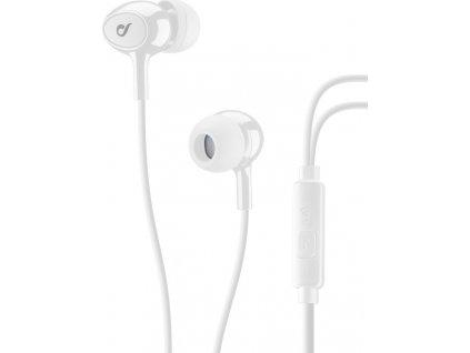 In-ear sluchátka CELLULARLINE ACOUSTIC s mikrofonem, AQL® certifikace, 3,5 mm jack, bílé