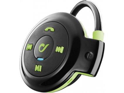 Sportovní bezdrátová ergonomická sluchátka CellularLine SCORPION, Bluetooth, černo-zelená