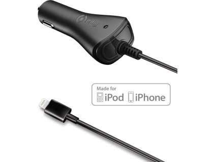 Autonabíječka CELLY pro přístroje Apple s Lightning konektorem, 1A, černá