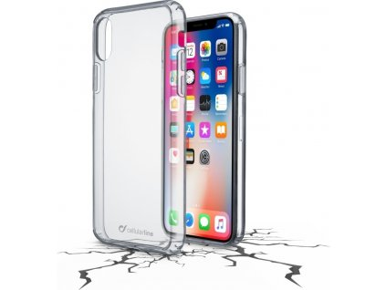 Zadní čirý kryt s ochranným rámečkem Cellularline CLEAR DUO pro Apple iPhone X/XS