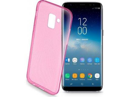 Barevné gelové pouzdro CELLULARLINE COLOR pro Samsung Galaxy S9, růžové