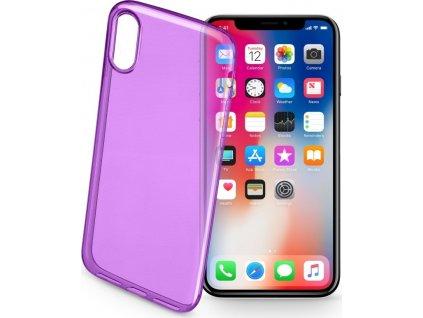Barevné gelové pouzdro CELLULARLINE COLOR pro Apple iPhone X/XS, fialové