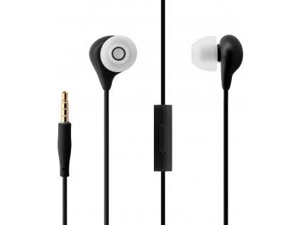 Voděodolná in-ear sluchátka s mikrofonem FIXED EGG1, IPX3, černá