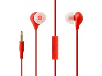 Voděodolná in-ear sluchátka s mikrofonem FIXED EGG1, IPX3, červená