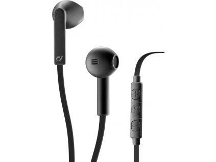 In-ear sluchátka CELLULARLINE LOUD UP s dálkovým ovládáním a mikrofonem, AQL® certifikace, 3,5 mm jack, černé