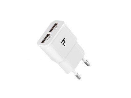 Nabíjecí USB adaptér HOCO UH202 DOUBLE USB CHARGER EU WHITE