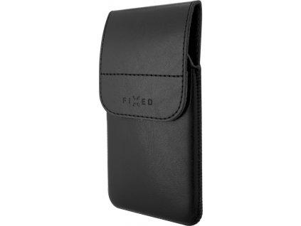 Pouzdro FIXED Pocket s klipem, PU kůže, velikost 6XL, černé