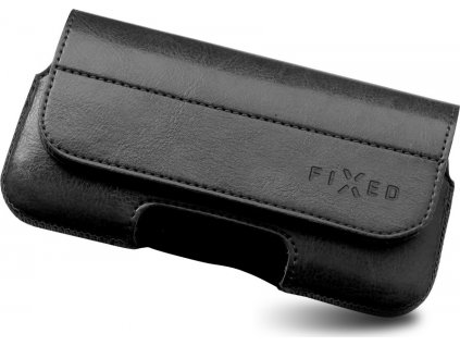 Horizontální pouzdro FIXED Sarif se zavíráním, PU kůže, velikost 5XL+, černé