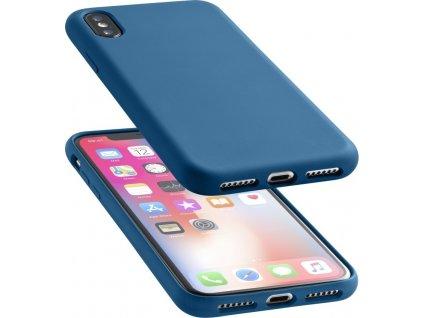 Ochranný silikonový kryt CellularLine SENSATION pro Apple iPhone X/XS, modrý