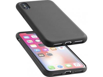 Ochranný silikonový kryt CellularLine SENSATION pro Apple iPhone X/XS, černý