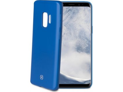 TPU pouzdro CELLY Softmatt pro Samsung Galaxy S9, matné provedení, modré