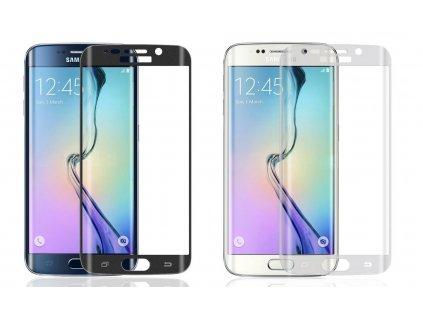 "Tvrzené sklo FULL pro ochranu displeje Samsung Galaxy S6 EDGE PLUS (5,7"") (Barva Zlatý)"