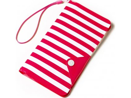 """Univerzální voděodolné pouzdro s peněženkou CELLY Splash Wallet pro telefony 5,7 """", růžové"""