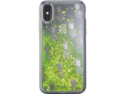 Gelové pouzdro Cellularline Stardust pro Apple iPhone X/XS, motiv Pineapple