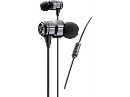 In-Ear dvoukomorová sluchátka CELLULARLINE SWING, AQL® certifikace, metalická zelená