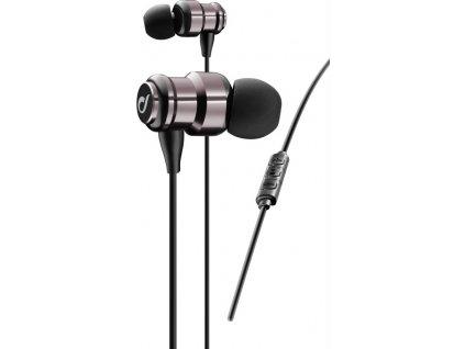 In-Ear dvoukomorová sluchátka CELLULARLINE SWING, AQL® certifikace, metalická růžová