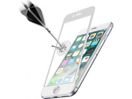 Ochranné tvrzené sklo pro celý displej Cellularline Capsule pro Apple iPhone 7/8/SE (2020), bílé