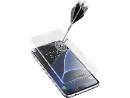 Ochranné zaoblené tvrzené sklo pro celý displej Cellularline Impact Glass pro Samsung Galaxy S7 EDGE, čiré