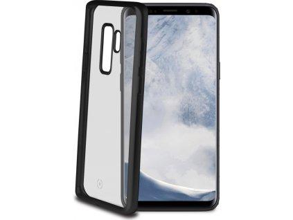 TPU pouzdro CELLY Laser - lemování s matným kovovým efektem pro Samsung Galaxy S9 Plus, černé